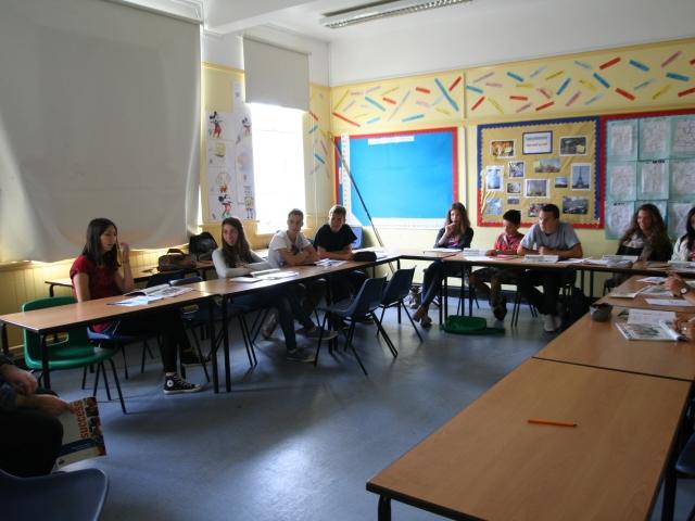 На занятиях в EC, Cambridge