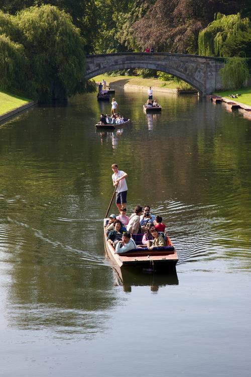 Катание по реке в Кэмбридже