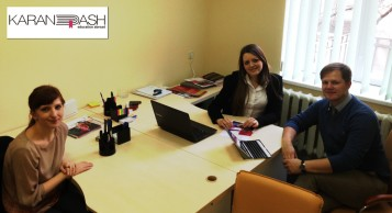 Visit of Malvern House representative to Karandash office
