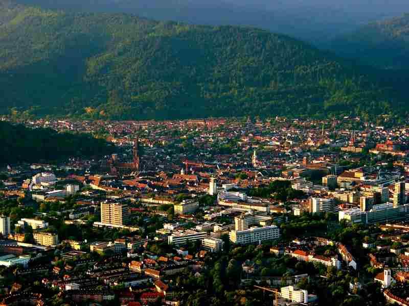Панорама города Freiburg