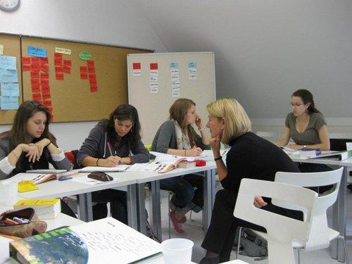 На занятиях в Goethe-Institute, Freiburg