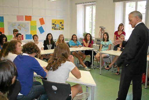 На занятиях в Goethe-Institute, Königsfeld