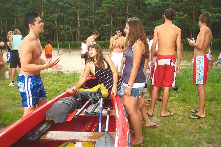 Свободное время после занятий в GLS, Berlin Water Sports