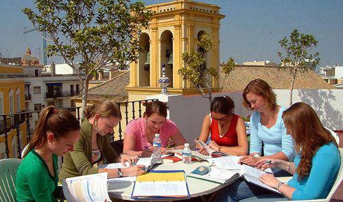 На занятиях Enfocamp, Sevilla