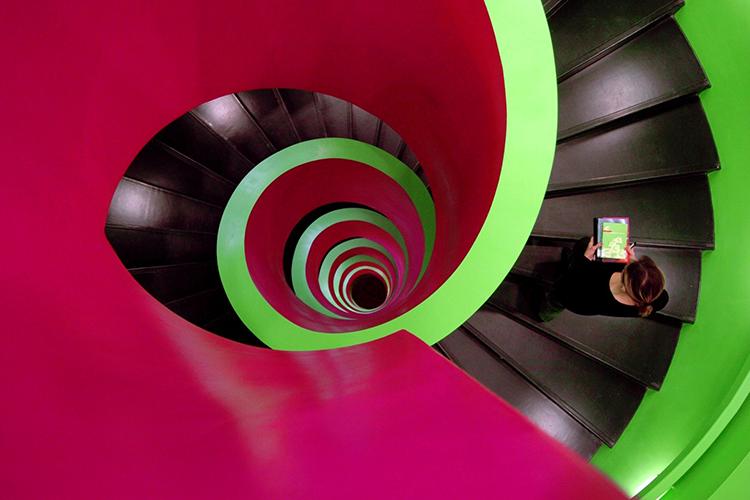 Лестница в библиотеке Brandenburg University of Technology