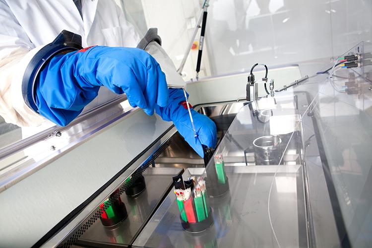 Биобанк в лаборатории Universität Leipzig