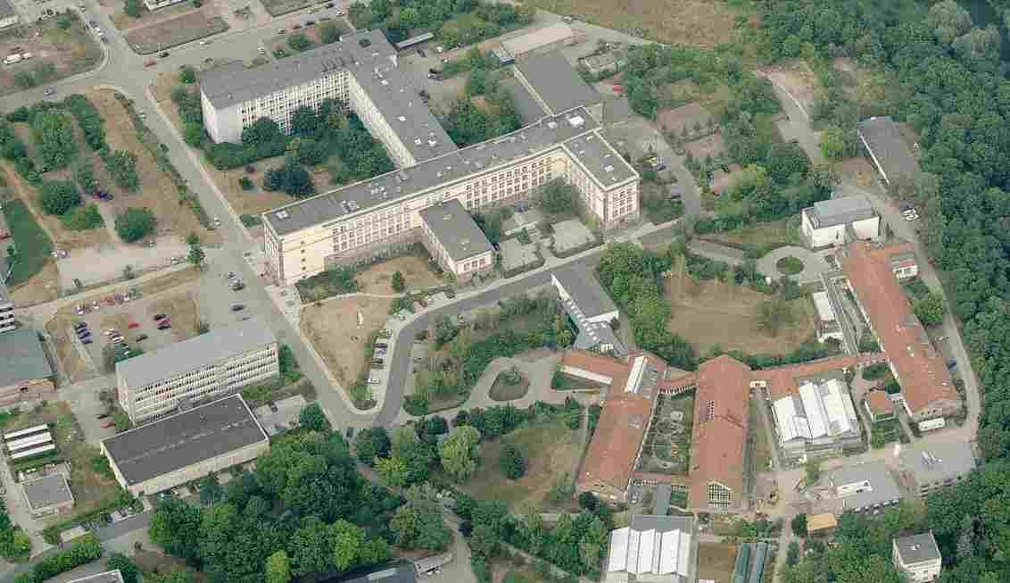 Вид на студенческий городок Martin Luther Universität Halle Wittenberg