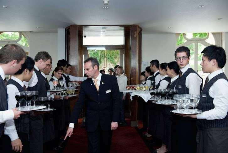 Проверка студентов в Hotel Institute Montreux