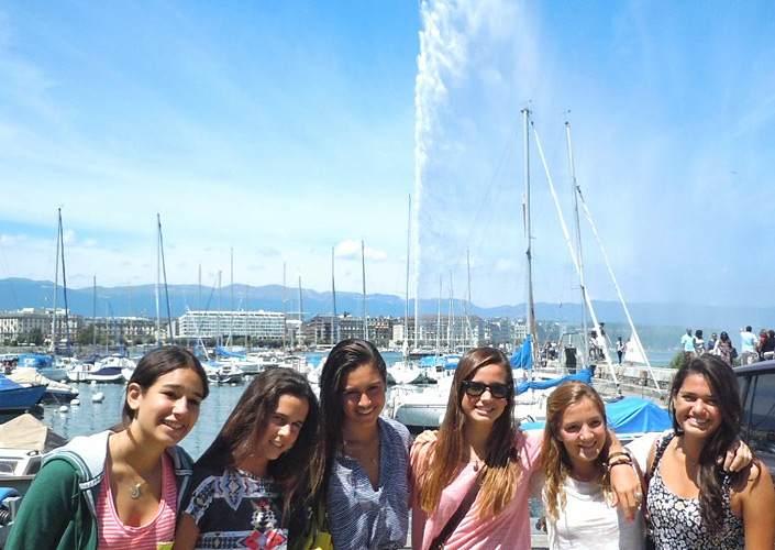 Во время экскурсии Brillantmont, Lausanne