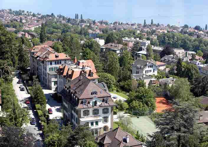 Вид на город Лозанна