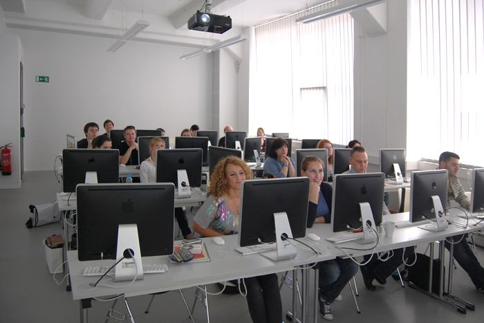 Во время урока Macromedia University for Media and Communication, Berlin