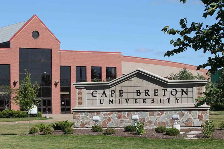 Главный вид Cape Breton University