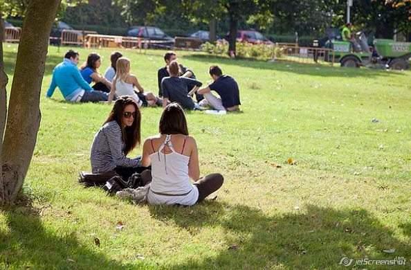 Студенты во время перемены, Университет Деусто