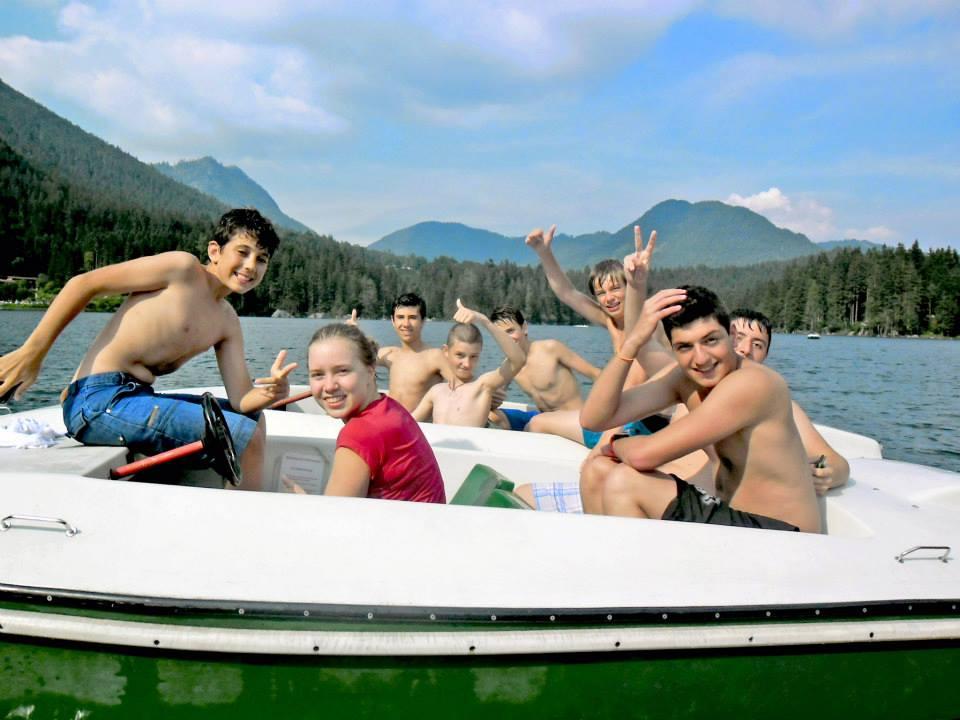 Студенты во время катания на лодках, DID Augsburg