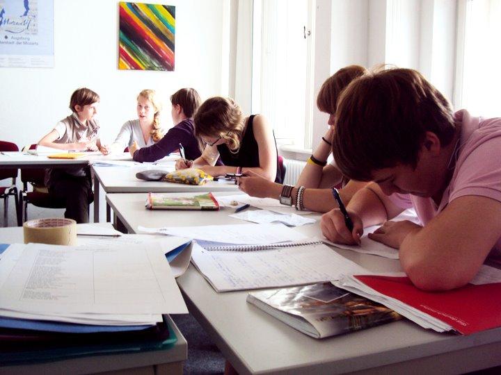 Студенты во время урока, DID Augsburg
