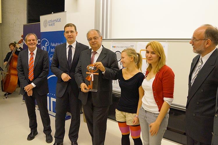 Награждение студентов Universität Wien
