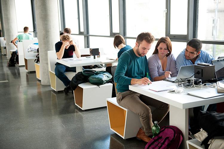 Лаунж-зона в Universität Wien