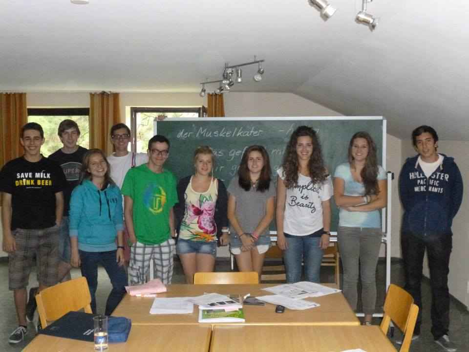 Группа на занятиях в классе  Humboldt-Institut, München Zentrum