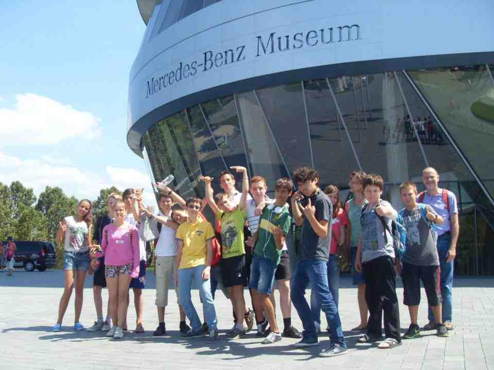Студенты Humboldt-Institut Bad Dürkheim в музее