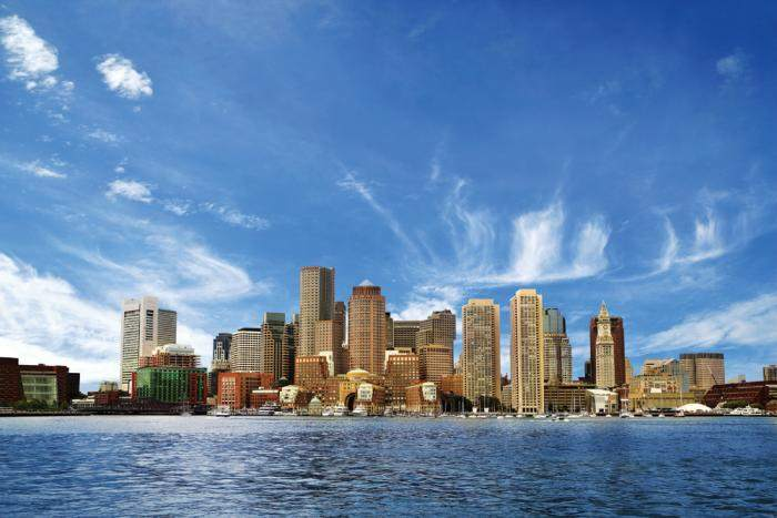 Вид на Бостон