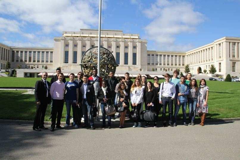 Посещение библиотеки ООН, Geneva Business School