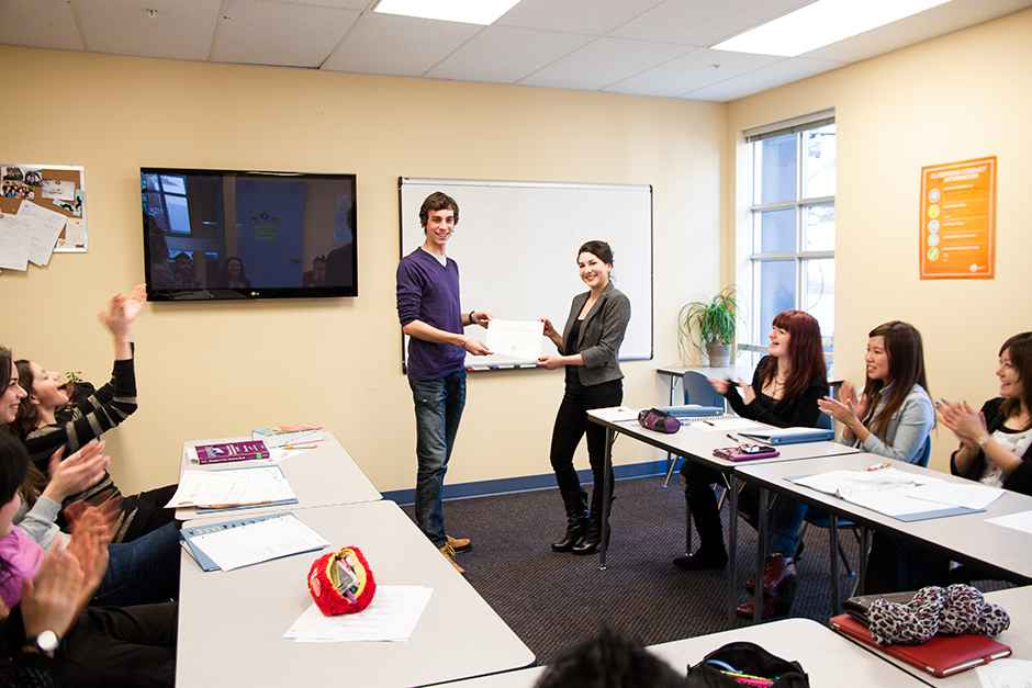Во время урока ILSC, Vancouver