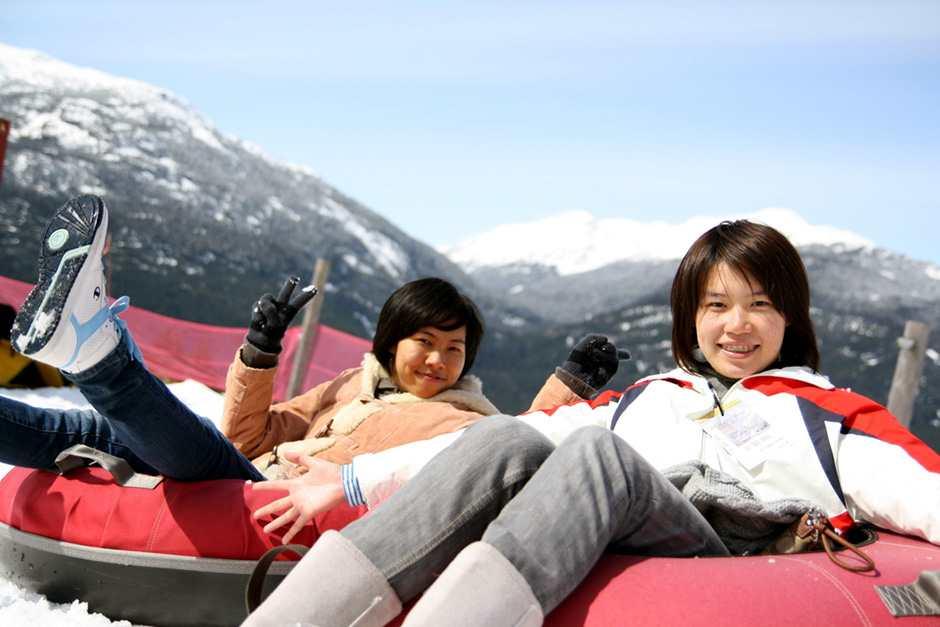Катание студентов в горах ILSC, Vancouver