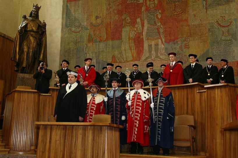 Торжественная церемония в Карловом университете