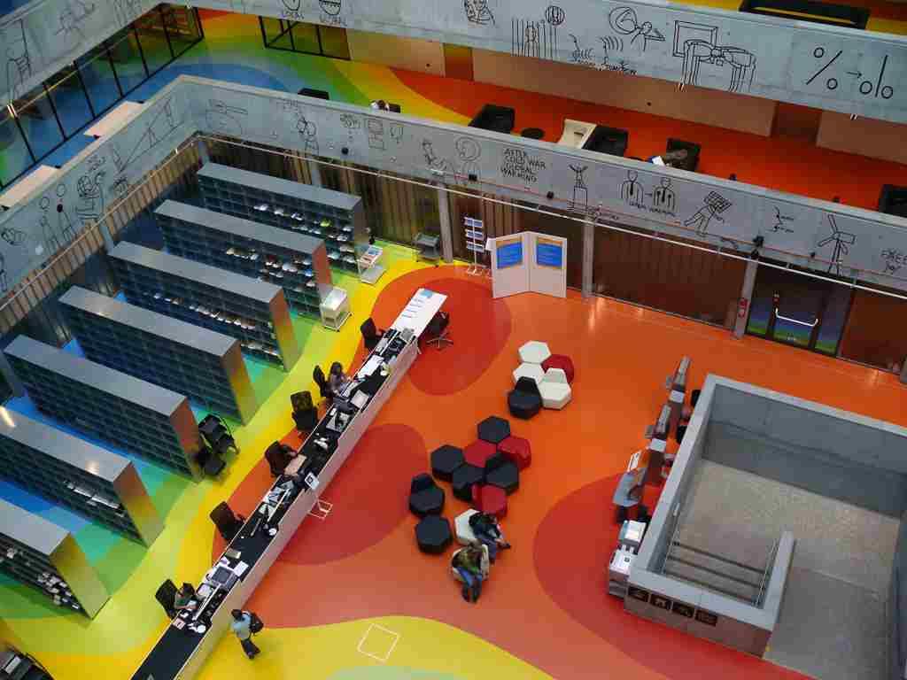 Библиотека в Техническом университете в Праге