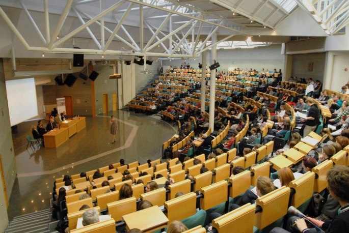 Учебный зал Высшей школы экономики в Праге