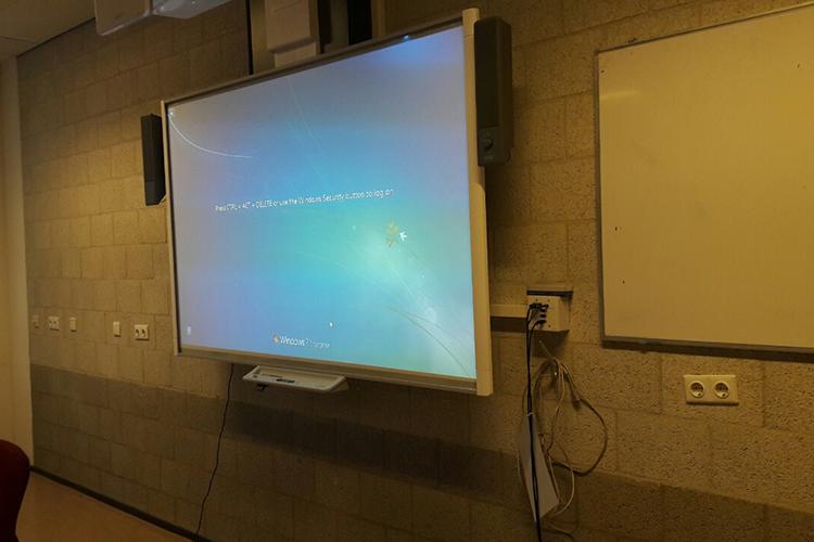 Интерактивные доски в зале презентаций HAN University of Applied Sciences