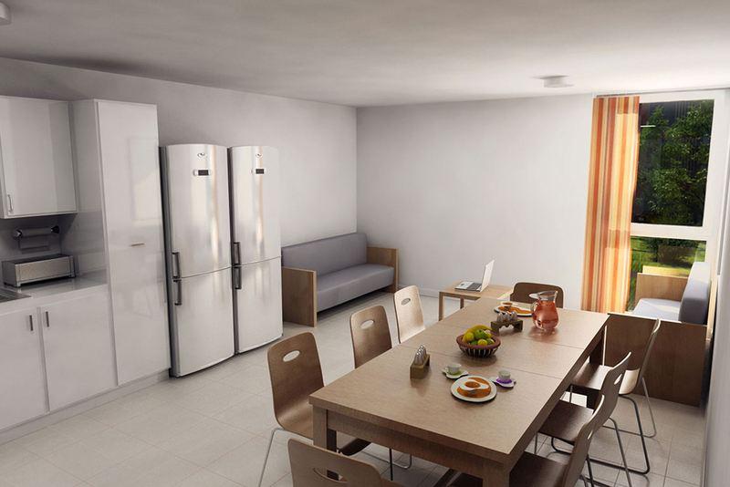 Общая кухня в резиденции