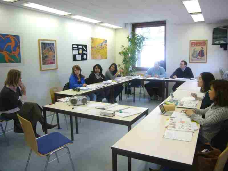 Урок в F+U Academy Of Languages, Heidelberg