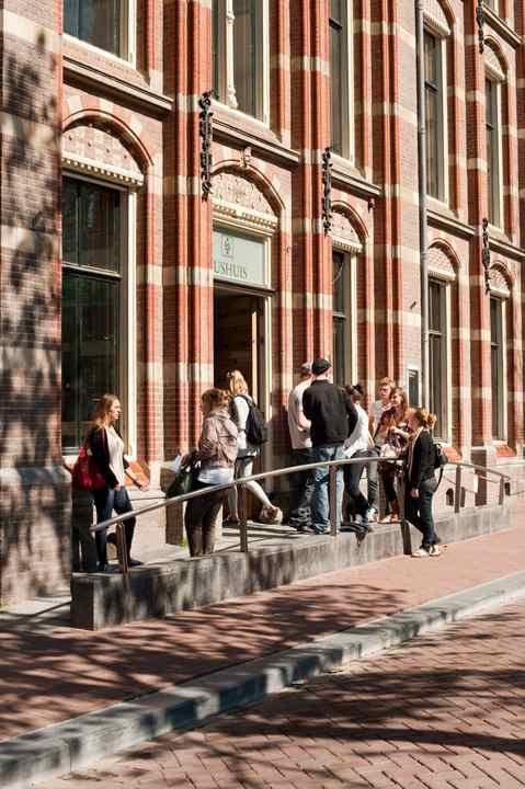 Вход в University of Amsterdam