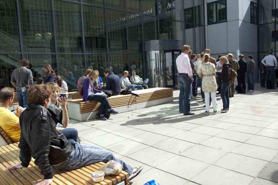 Внутренний двор University of Amsterdam