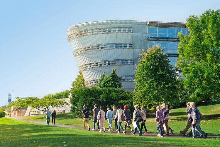На кампусе University of Surrey