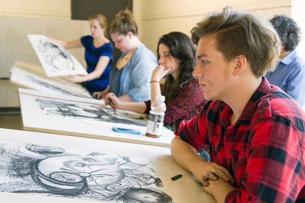 Студенты во время урока в The University of Maine
