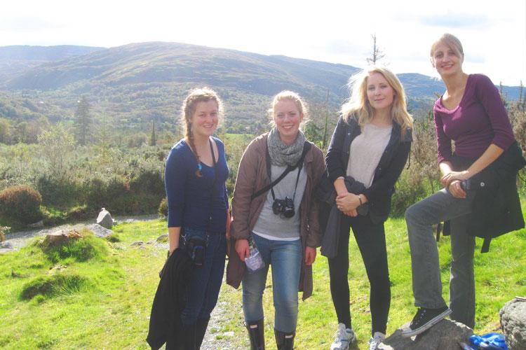 Студенты University College Dublin в выходной день