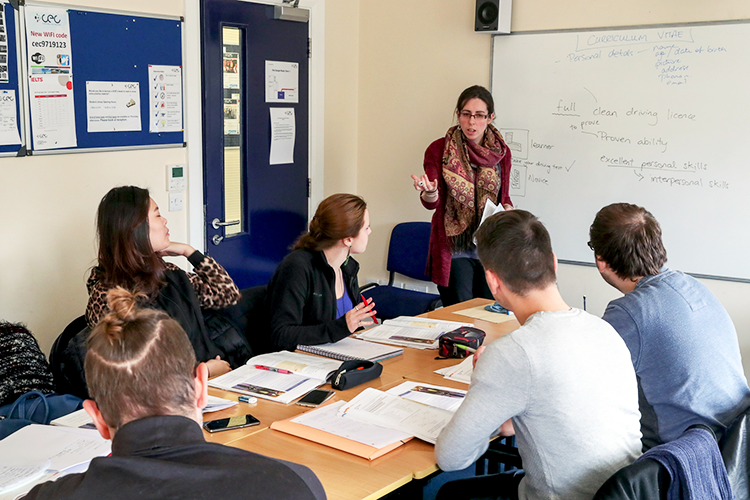 Урок в Cork English College