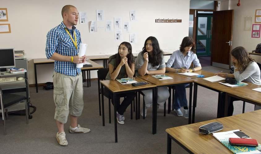 Урок в школе St Giles, Southampton