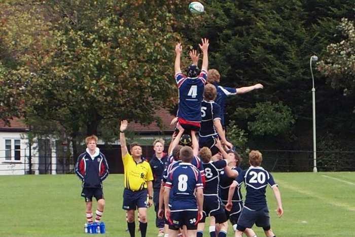 Занятия регби в Exsportise, Seaford College