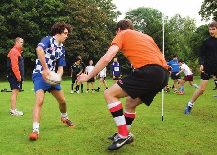Занятия регби в Exsportise, Clayesmore school