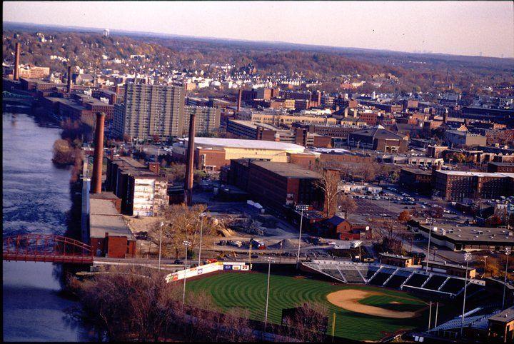 Вид с высоты на University of Massachusetts Lowell