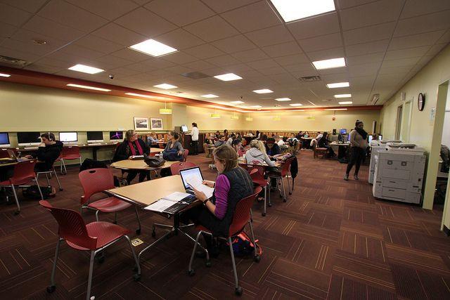 Комната самостоятельного обучения в Pace University
