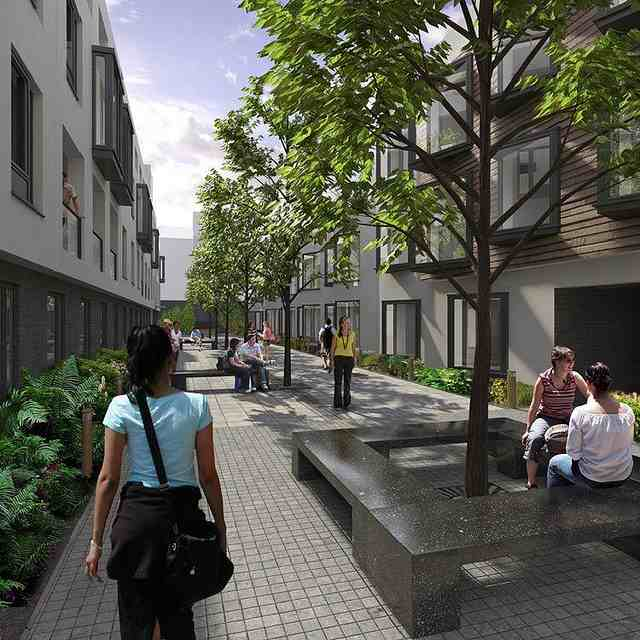 Место отдыха на территории Kaplan International College, London