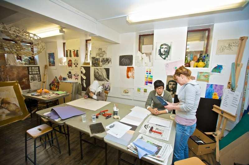 Студия живописи в Kings Colleges, Oxford
