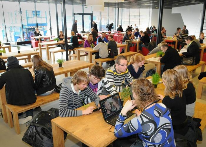 Комната для самосоятельного обучения в Stenden University