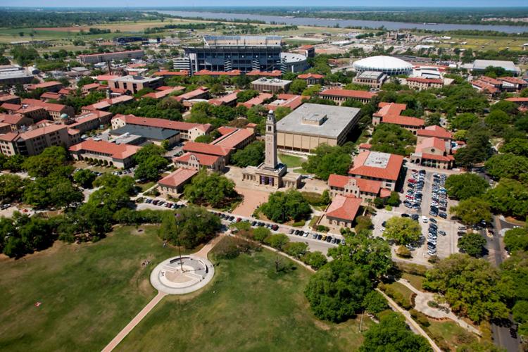 Вид сверху на Louisiana State University