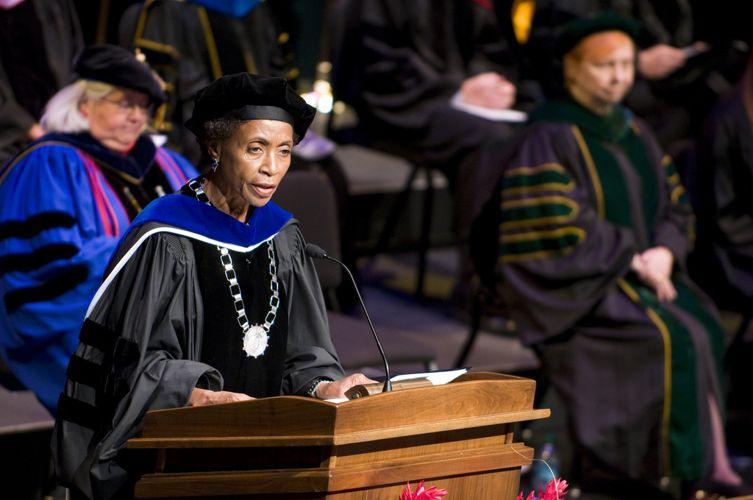 Выступление на дне выпускников The University of Kansas