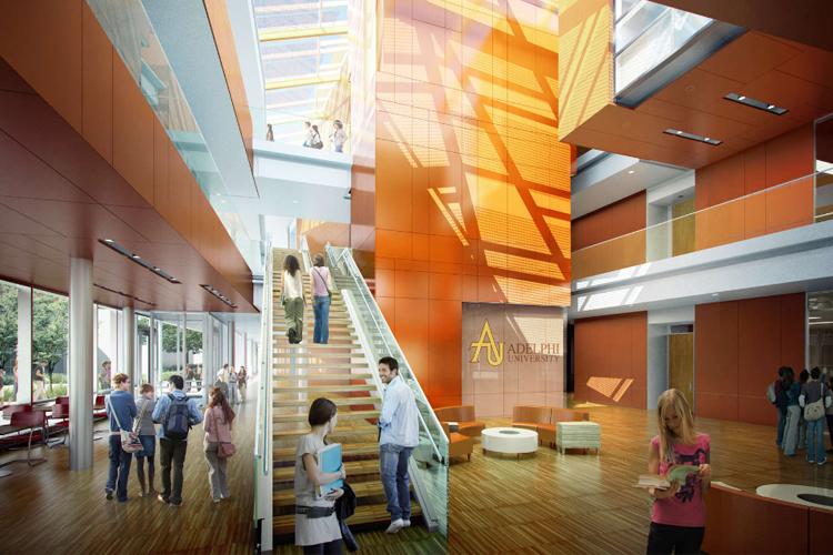 Один из корпусов Adelphi University